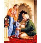 Krishna Puts Nanda Maharaja's Shoe on His Head