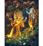 Lord Brahma Offers Prayers to Krishna