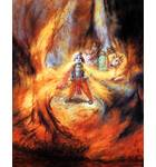 Krishna Swallows the Forrest Fire
