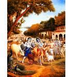 Krishna, Balaram and the Cowherd Boys go to the Forrest