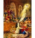 Krishna Incarnates as Unlimited Sari for Draupadi