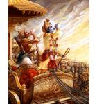 Krishna and Arjuna Blow Their Conch Shells
