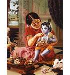 Mother Yasoda Feeding a Young Lord Krishna in Vrindavan