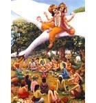 Lord Brahma Observes the Activities of Krishna and Balaram in Vrindavan