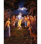 Krishna and the Gopis on a Full-Moon Night on the Bank of the Yamuna