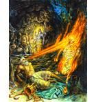 King Mucukunda Burns Kalayavana to Ashes Simply by his Glance