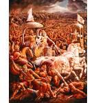 Krishna and Arjuna in a Battlefield Action Scene
