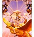 Lord Vishnu on His Bird Carrier Garuda