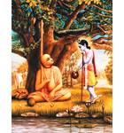 Krishna offers Madhavendra Puri Milk