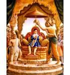 Prahlada Maharaja Sitting on His Father's Throne