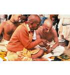 Srila Prabhupada Teaching Gayatri Mantra to Disciple