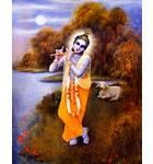 Krishna on Yamuna Bank