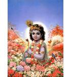Krishna Amidst Flowers