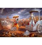 Krishna Attacks Bhishma Painting