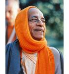 Srila Prabhupada with Orange Shawl Drapped around Head