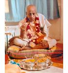 Srila Prabhupada Taking Prasadam