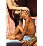 Srila Prabhupada Receiving Massage