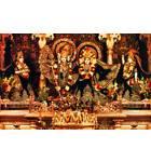Sri Radha-Rasabihari with Gopis - Juhu, Mumbai, India