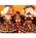 Sri Sri Jagannatha, Baladeva and Lady Subhadra - Paris, France