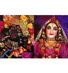 Sri Sri Radha-Syamasundar close up - New Vraja Dhama - Somogyvamos, Hungary