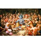 Krishna and His Cowherd Boyfriends Take Lunch in the Forrest - Landscape