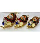 Golden Elephant Set of 3 -- 3""