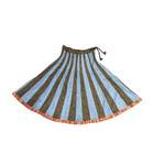 Gopi Dress -- 40 Panel Skirt, Alternating Colors with Gold Border