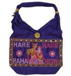 Embroidered Handbag -- Hare Krishna, Cotton, Patiala Style