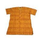 Kurta -- Devotee Harinam Pattern, 4-Button