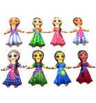 Childrens Stuffed Toys: Astha Saki Dolls - set of 8