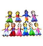 Childrens Stuffed Toys: Radha Krishna and Astha Saki Dolls - set of 10