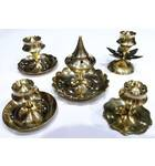Assorted Collection of 5 Brass Incense Holders