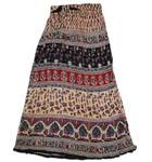 Gopi Skirt -- Jaipur Rayon, Beige Background w/ Contrasting Pattern
