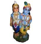 "Krishna and Balarama Polyresin Figure (6.5"" high)"