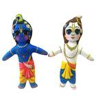 Krishna-Balaram Dolls -- Small Size -- Childrens Stuffed Toy