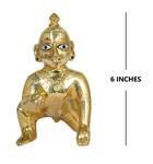 "Laddu Gopal Brass Deity 6"""