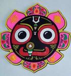 Large Jagannatha with Pink Lotus Magnet