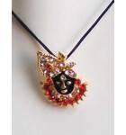 Lord Krishna Diamond Pendant with Black Thread