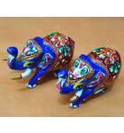 Metal Elephants (Set of 2)
