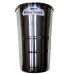 """Set of 2 Water Cups - Stainless Steel - 4"""""""