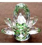 "Revolving Prabhupada Sitting in Crystal Lotus (4"")"