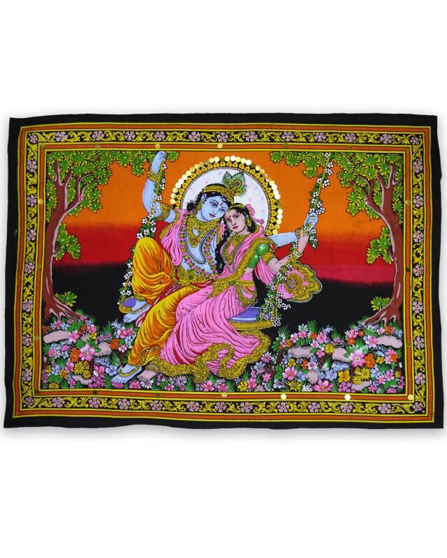 Wall Hanging Radha Amp Krishna On Swing