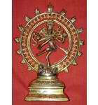 "Brass Nataraja Lord Shiva Deity (8"")"