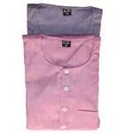 Kurta -- Cotton Jute, Plain Solid Color
