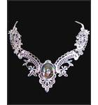 Krishna Necklace -- Silver Color