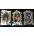 "Krishna Photo Frame With Magnet 4.5"" (set of 3)"