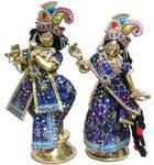 "Radha Krishna Deities (Brass 12"")"