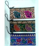 """Zip Bag With Finger Thread in Traditional Indian Designs (3.5"""" x  7.9"""")"""