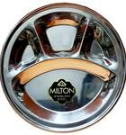 """Four Section Thali (Plate) for Prasadam -- Stainless Steel - 12"""""""